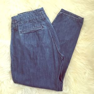 Gap 1969 high waist pleated denim jeans